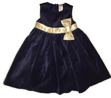 MSD Original Gymboree Blue Velvet with Gold Bow Dress