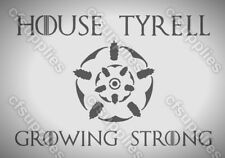 Game of Thrones TYRELL Mylar AIRBRUSH STENCIL 125/190 micron A5/A4/A3 reusable