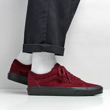 Vans Men's New Old Skool Suede Shoes Port Royale Red Black Outsole