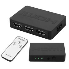 Conmutador HDMI de 3 Puertos Port Switch Hub IR Remoto HDMI 1080p para HDTV PS3