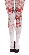 Ladies Horror White Bloody Tights Womens Halloween Stag Do Fancy Party Outfit