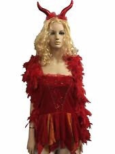 Ladies Halloween Devils Delight Costume Womens Book Week Stag Do Hen Party Dress