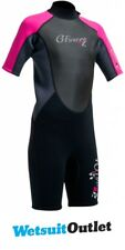 2018 Gul G-Force Junior Shorty 3/2mm Wetsuit in Black / Pink GF3308-A9