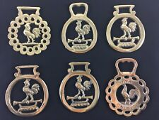 Vintage/Antique Polished Horse Brass with Cockerel/Rooster and/or Trumpet decor