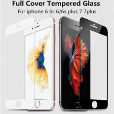 Full Cover 9H Hard Edge Tempered Glass For iPhone 7 Plus White Screen Protector