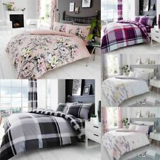 Duvet Cover Sets Printed Reversible Quilt Bedding Pillowcases Single Double King