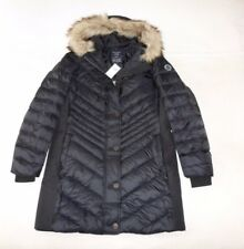 Womens Abercrombie & Fitch Down Quilted Hoodie Water Resistant Coat Jacket L, XL