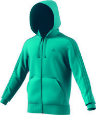 Adidas Ess 3 Strisce Full Zip Hood French,Giacca Sportiva,Felpa ,Giacca, Br1055