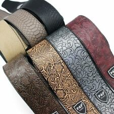 PU Leather Guitar Strap 2.5'' for Bass/Acoustic/Electric Adjustable 1.3m-1.5m