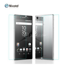 Front Back Tempered Glass For Sony Xperia M4 M5 Z3 Compact Z5 Screen Protector