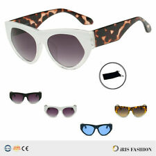 Women NEW Retro Vintage BOLD Round Cat Eye Fashion Designer Sunglasses UV400