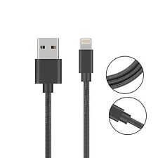 Heavy Duty Metal Braided Lightning USB Charger Cable Charging Fast For iPhone 3m