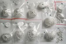NEW Sterling Silver filigree keepsake trinket rosary jewellery boxes Made Italy