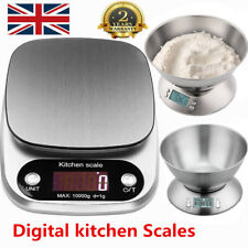 5kg/10kg Electronic Digital LCD Stainless Steel Mixing Bowl Food Kitchen Scales