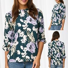 JDY Blusa Mujer Camisa Floral Top Flores 3/4 Manga Top parte superior Only