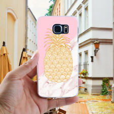 CN_ Pineapple Leaves Phone Case Cover for Samsung Galaxy S8 S7 S6 Edge Plus Ho