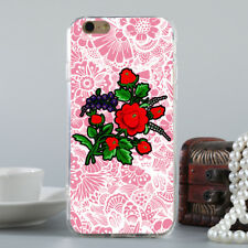 CN_ Embroidery Flower Style Phone Protective Case Cover for iPhone X/8/7/6 Can