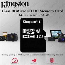 Kingston CLASS 10 SDHC Micro SD Card and Adaptor 16GB, 32GB, 64GB