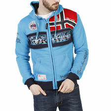 Sweat-shirts Geographical Norway Flyer_man_turquoise Bleu Homme   Automne/Hiver