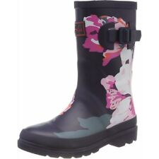 Joules Printed Welly Granny Floral Marine Caoutchouc Junior Wellington Bottes