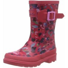 Joules Printed Welly Inky Ditsy Rosa Scuro Gomma Junior Wellingtons Stivali