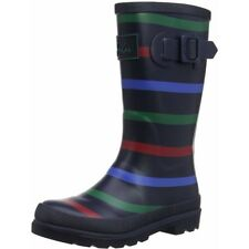 Joules Printed Welly Stripe Multi Gomma Junior Wellingtons Stivali