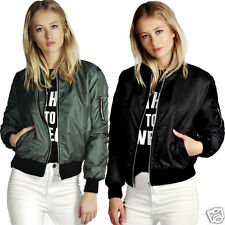Womens Army Pilot Biker Bomber Fly Military Security Jacket Outwear Coat