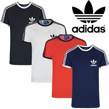 Adidas Mens Short Sleeve Retro Originals Trefoil Cotton Jersey T Shirt Size S-XL