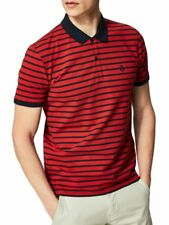 Polo manches courtes à rayures ARO Homme Rouge