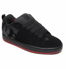 DC SHOES SKATE COURT GRAFFIK SE BLACK - RED 300927 XKRK MENS UK SIZES 8 - 12