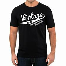 72nd Birthday Present Gift Year 1946 Aged To Perfection Retro T-Shirt Unisex Tee