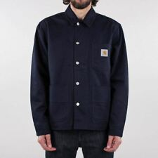 Carhartt WIP Men's New Chalk Cotton Twill Jacket Dark Navy Blue