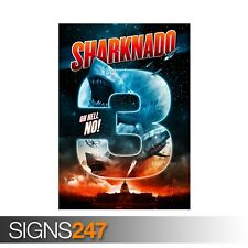 SHARKNADO 3 OH HELL NO (ZZ044)  MOVIE POSTER Poster Print Art A0 A1 A2 A3