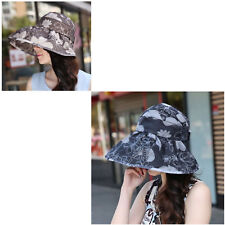 Hat For Women Summer Outdoor Sun UV Protection Foldable Visor Big Adjustable Cap