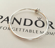 Brand New Authentic Sterling Silver Pandora Barrel Clasp Bracelet 590702HV