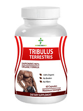Tribulus Terrestris 7500mg Strong Muscle Mass Testosteron Booster 60 Capsules