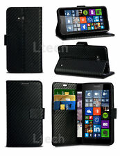 For Huawei Honor 5X ,6X,7,7X,8 &10  New carbon Leather Wallet Phone Case Cover