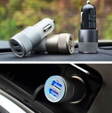 3.1A Dual USB Car Charger Alloy 2 Port Universal Charging For Samsung iPhone HT