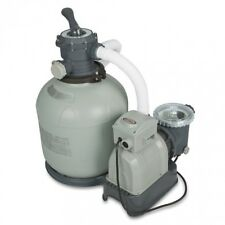 """Pool Sand Filter Pump For Above Ground Pool 16"""" 3000 gph With GFCI Intex Krystal"""