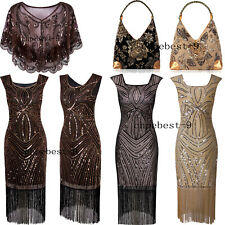 Vintage Retro 1920s Flapper Dress Gatsby Womens Clothing Evening Gowns Plus Size