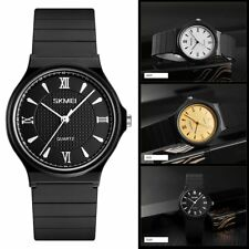 Fashion Men Women Rubber Band Analog Quartz Sport Watch Waterproof Wrist Watch