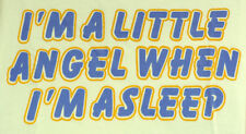 I'M a Little Angel When i ' M Asleep - Eslogan Body Amarillo - Liquidación