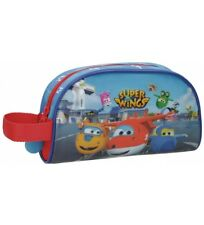 Super Wings - Neceser Super Wings Airport con asa lateral -21,5x12x5,5cm- Niños