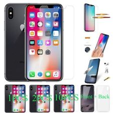 For Apple iPhone Xs Max XR X 8 7 6S + Tempered Glass Phone Screen Protectors Lot