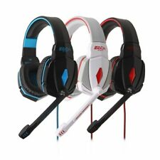 G4000 Cuffie da gioco Stereo Bass Surround Gaming Cuffie Microfono LED per PC #