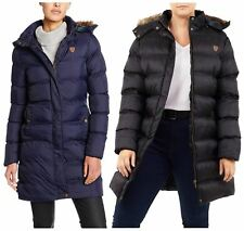 New Ladies Plus Size Lined Padded Puffer Faux Fur Hood Winter Jacket Coats 18-24