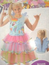 Girls Deluxe Rainbow Dash My Little Pony Costume Child Fancy Dress Outfit