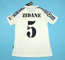 MAGLIA CALCIO REAL MADRID HOME 2002 UCL FINAL 5 ZIDANE 7 RAUL FIGO LONG SLEEVES
