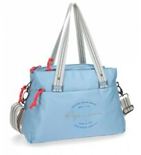 Pepe Jeans - Bolso tote Pepe Jeans Yoga Azul -34x24x14cm- Poliéster Mujer chica