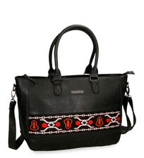 Pepe Jeans - Bolso Pepe Jeans Liza negro  -26x35x13cm-.. Mujer chica
